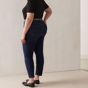 Penningtons DC Jeans Pull On Jeggings Dark Wash Stretchy Skinny Jeans Plus Size